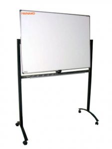 Papan Tulis Whiteboard 120X240 (Singleface + Stand)