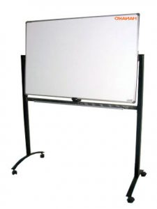 Papan Tulis Whiteboard 120X180 (Double face + Stand)