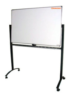 Papan Tulis Whiteboard  60×90 (Double face + Stand)